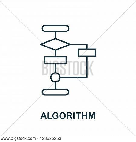 Algorithm Line Icon. Creative Outline Design From Artificial Intelligence Icons Collection. Thin Alg