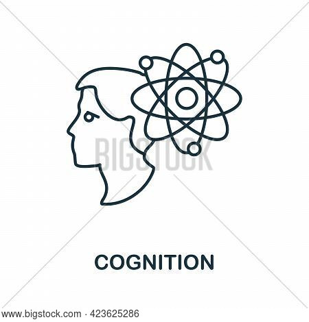 Cognition Line Icon. Creative Outline Design From Artificial Intelligence Icons Collection. Thin Cog