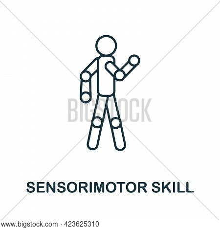 Sensorimotor Skill Line Icon. Creative Outline Design From Artificial Intelligence Icons Collection.