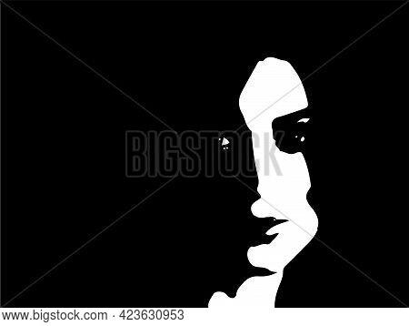 Silhouette Of Pretty Woman.vector Illustration, Pretty, Sensuality, Sexy,