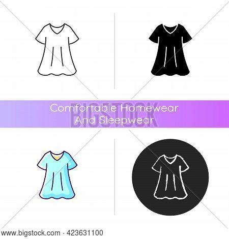 Sporty Dress Icon. Elegant Loungewear For Women. Oversized Trendy Dress. Comfortable Homewear And Sl