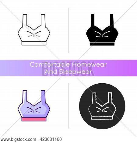 Bra Top Icon. Female Underwear. Trendy Sporty Outfit For Women. Lady Sportswear. Comfortable Homewea