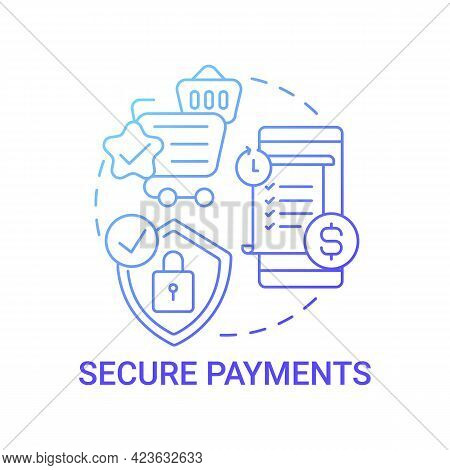 Secure Payments Concept Icon. Global Marketplaces Service Abstract Idea Thin Line Illustration. Safe
