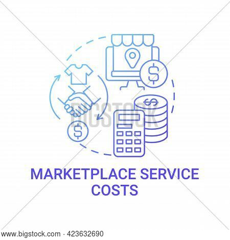 Marketplace Service Costs Concept Icon. Calculating Consistent Gross Margin Abstract Idea Thin Line