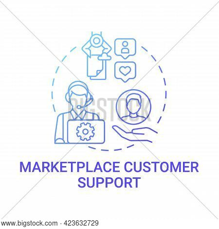 Marketplace Customer Support Concept Icon. Choice Parameter Abstract Idea Thin Line Illustration. Co