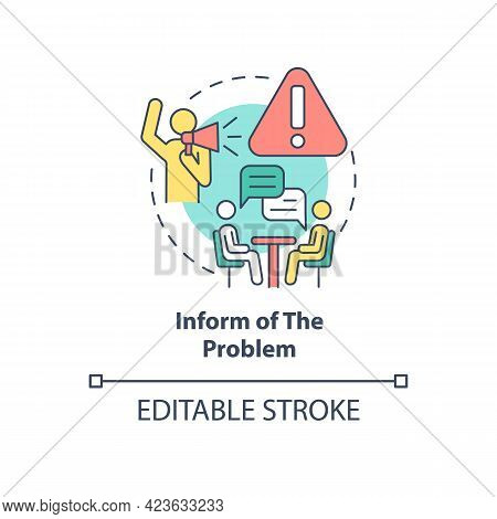 Informing About Problem Concept Icon. Racism At Work Abstract Idea Thin Line Illustration. Race Disc