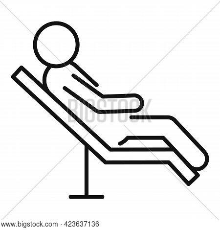 Patient With Psychologist Icon. Outline Patient With Psychologist Vector Icon For Web Design Isolate