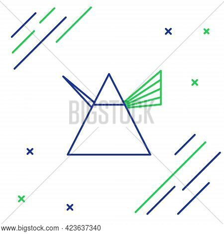 Line Light Rays In Prism Icon Isolated On White Background. Ray Rainbow Spectrum Dispersion Optical