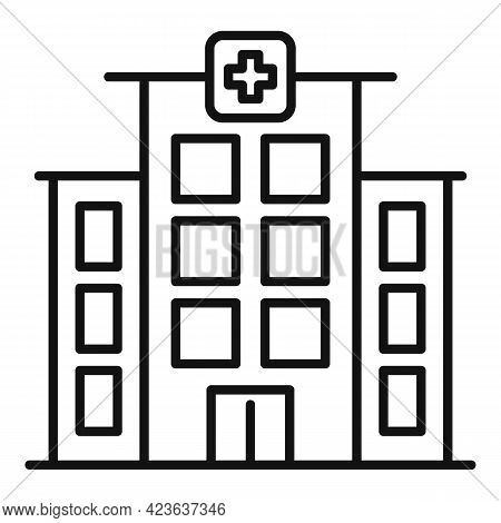 Psychological Clinic Icon. Outline Psychological Clinic Vector Icon For Web Design Isolated On White