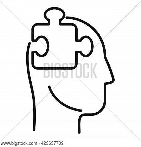 Psychological Process Icon. Outline Psychological Process Vector Icon For Web Design Isolated On Whi