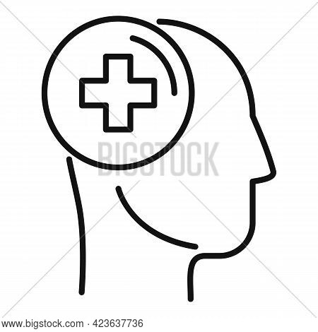 Psychological Treatment Icon. Outline Psychological Treatment Vector Icon For Web Design Isolated On