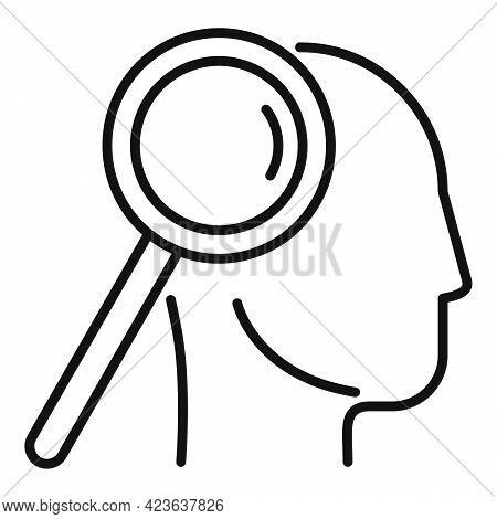 Finding Solution Icon. Outline Finding Solution Vector Icon For Web Design Isolated On White Backgro