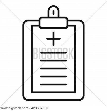 Doctor Prescription Icon. Outline Doctor Prescription Vector Icon For Web Design Isolated On White B