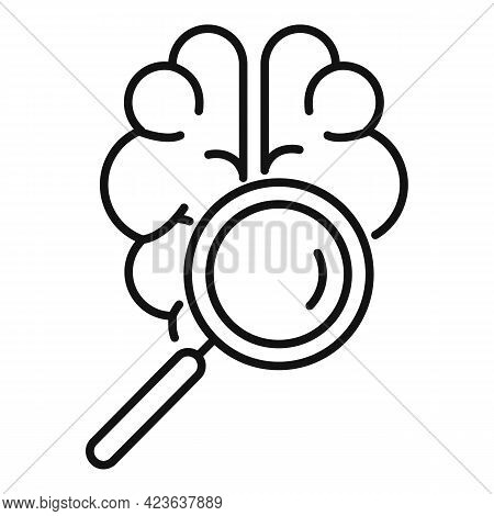 Brainstorm Icon. Outline Brainstorm Vector Icon For Web Design Isolated On White Background