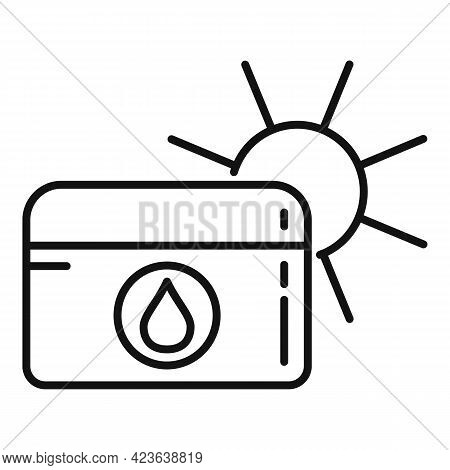 Sunscreen Icon. Outline Sunscreen Vector Icon For Web Design Isolated On White Background