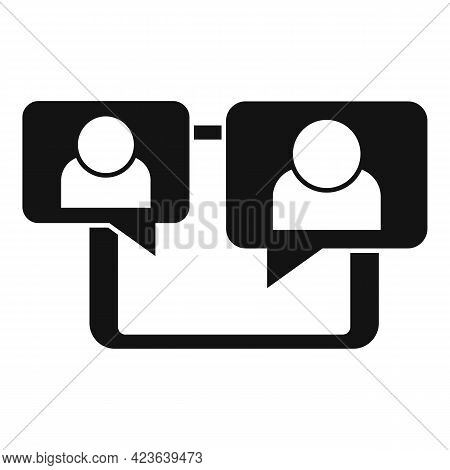 Tablet Online Meeting Icon. Simple Illustration Of Tablet Online Meeting Vector Icon For Web Design