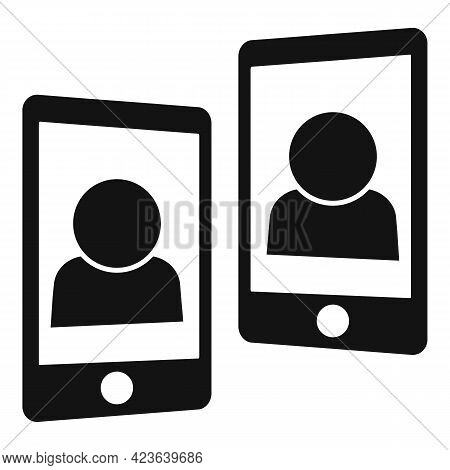 Phone Consultation Meeting Icon. Simple Illustration Of Phone Consultation Meeting Vector Icon For W