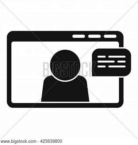 Chat Online Meeting Icon. Simple Illustration Of Chat Online Meeting Vector Icon For Web Design Isol