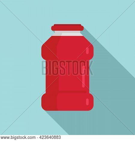Ketchup Bottle Icon. Flat Illustration Of Ketchup Bottle Vector Icon For Web Design