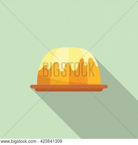 Flour Cake Icon. Flat Illustration Of Flour Cake Vector Icon For Web Design