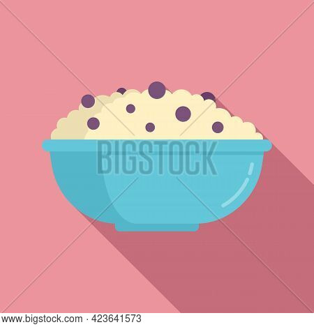 Rise Bowl Icon. Flat Illustration Of Rise Bowl Vector Icon For Web Design