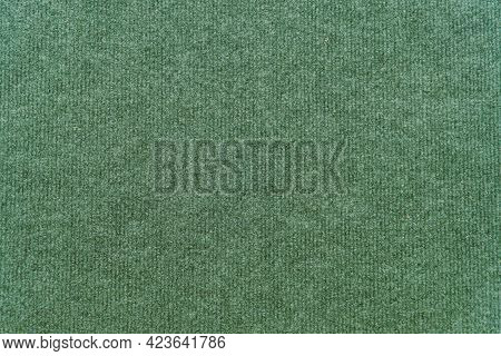 Green Synthetic Wool Carpet For Background And Design