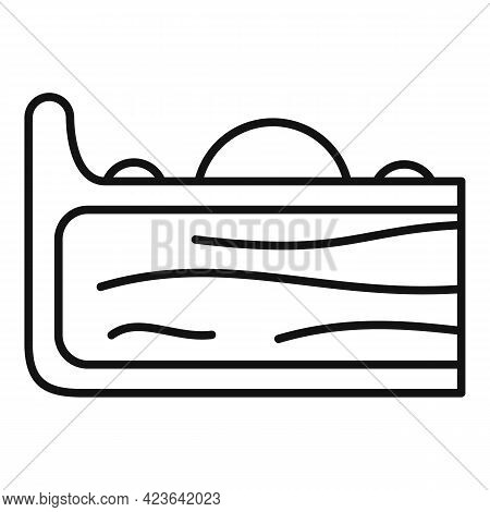 Cake Slice Icon. Outline Cake Slice Vector Icon For Web Design Isolated On White Background