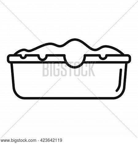 Baking Cake Icon. Outline Baking Cake Vector Icon For Web Design Isolated On White Background