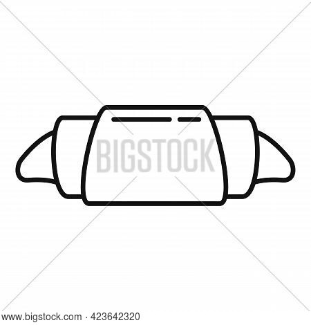 Croissant Icon. Outline Croissant Vector Icon For Web Design Isolated On White Background