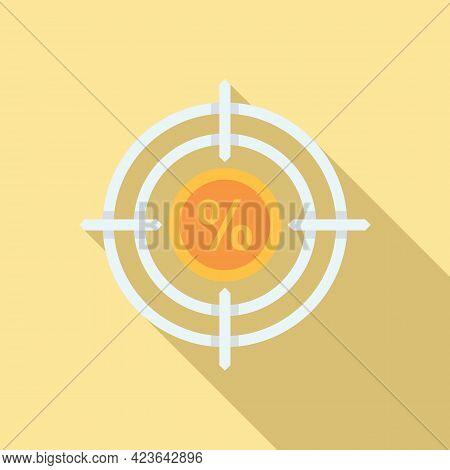 Bonus Target Icon. Flat Illustration Of Bonus Target Vector Icon For Web Design