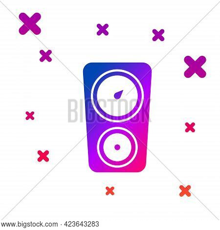 Color Gauge Scale Icon Isolated On White Background. Satisfaction, Temperature, Manometer, Risk, Rat