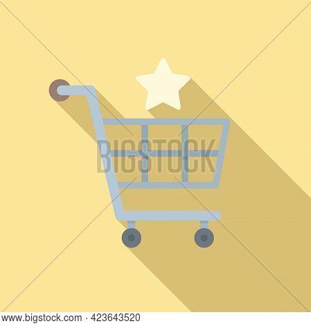 Sale Bonus Shop Cart Icon. Flat Illustration Of Sale Bonus Shop Cart Vector Icon For Web Design