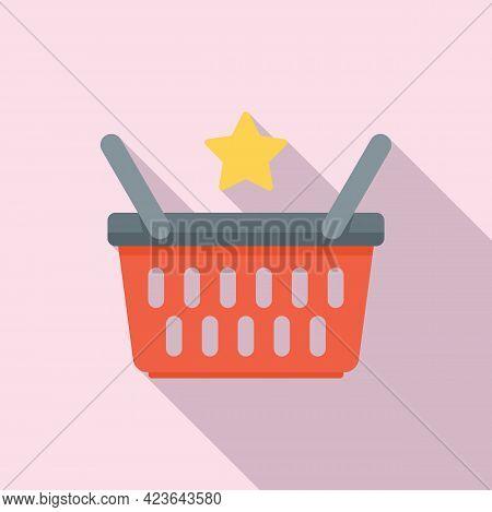 Sale Bonus Basket Icon. Flat Illustration Of Sale Bonus Basket Vector Icon For Web Design