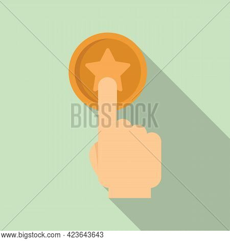 Sale Bonus Button Icon. Flat Illustration Of Sale Bonus Button Vector Icon For Web Design