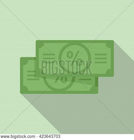 Sale Bonus Cash Icon. Flat Illustration Of Sale Bonus Cash Vector Icon For Web Design
