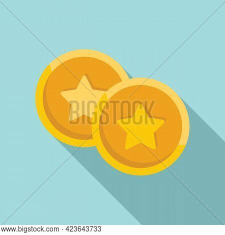 Sale Bonus Coins Icon. Flat Illustration Of Sale Bonus Coins Vector Icon For Web Design