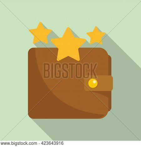 Sale Bonus Star Wallet Icon. Flat Illustration Of Sale Bonus Star Wallet Vector Icon For Web Design