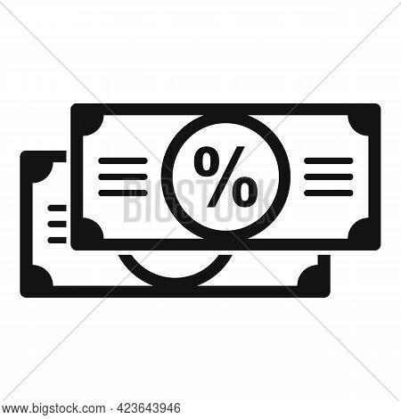Sale Bonus Cash Icon. Simple Illustration Of Sale Bonus Cash Vector Icon For Web Design Isolated On