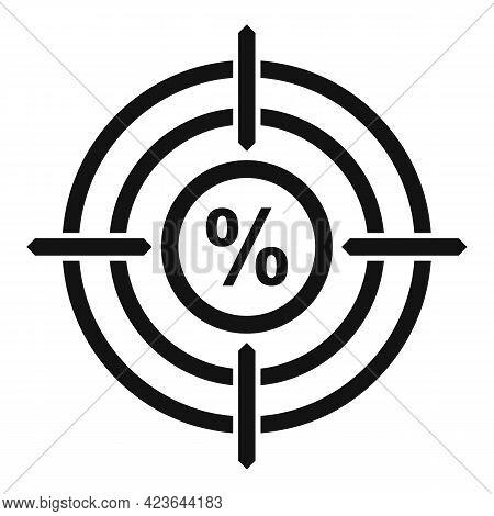 Bonus Target Icon. Simple Illustration Of Bonus Target Vector Icon For Web Design Isolated On White