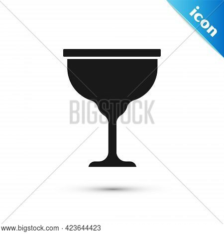 Grey Jewish Goblet Icon Isolated On White Background. Jewish Wine Cup For Kiddush. Kiddush Cup For S