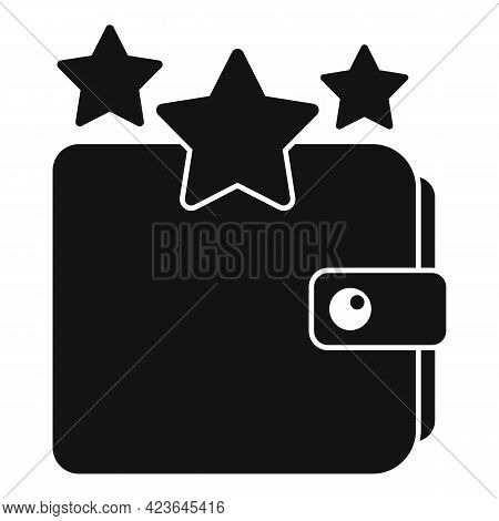 Sale Bonus Star Wallet Icon. Simple Illustration Of Sale Bonus Star Wallet Vector Icon For Web Desig
