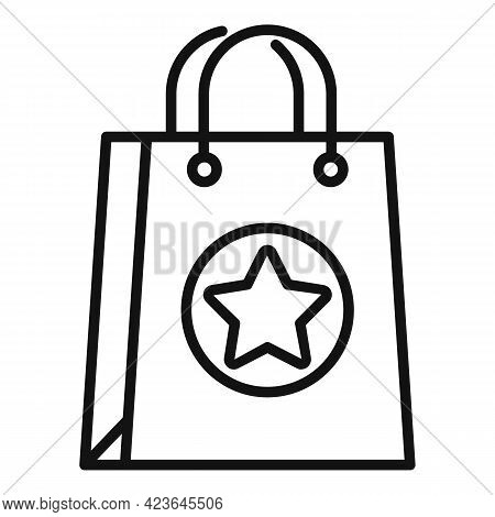 Sale Bonus Bag Icon. Outline Sale Bonus Bag Vector Icon For Web Design Isolated On White Background