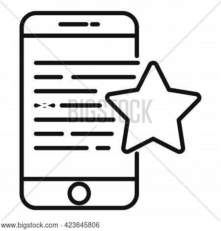 Bonus Smartphone Icon. Outline Bonus Smartphone Vector Icon For Web Design Isolated On White Backgro