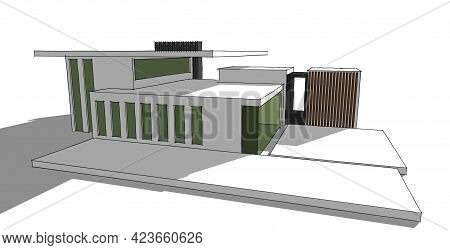 Abstract sketch, Architectural ,Construction ,Wireframe