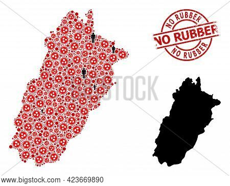 Mosaic Map Of Punjab Province United From Covid Infection Elements And People Items. No Rubber Distr