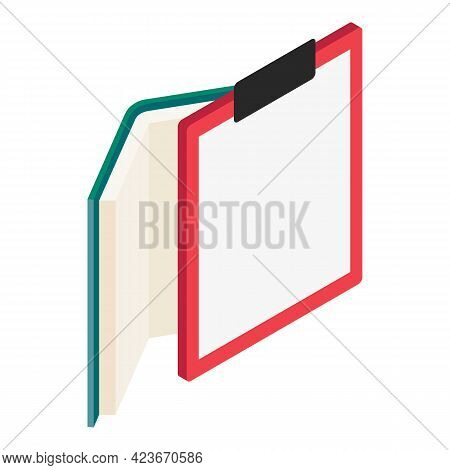Studying Icon. Isometric Illustration Of Studying Vector Icon For Web