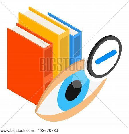 Vision Myopia Icon. Isometric Illustration Of Vision Myopia Vector Icon For Web