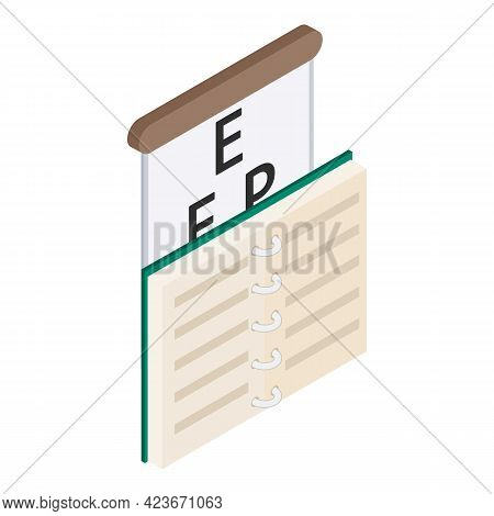 Eyesight Check Icon. Isometric Illustration Of Eyesight Check Vector Icon For Web