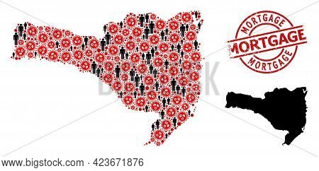 Mosaic Map Of Santa Catarina State Organized From Sars Virus Items And Population Items. Mortgage Gr