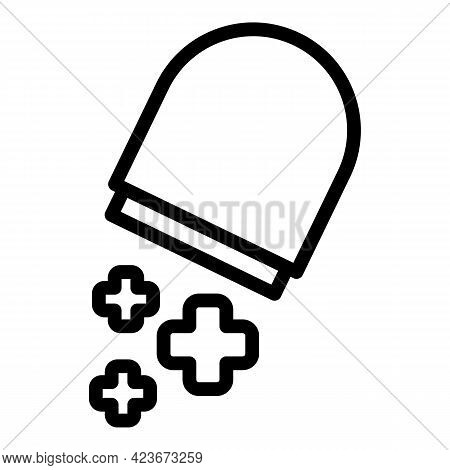 Antidepressant Capsule Icon. Outline Antidepressant Capsule Vector Icon For Web Design Isolated On W